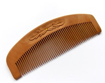 Hair Comb Wood, Natural Wood Hair Comb, Natural Wooden Hair Comb, Personalize, Wood Carving, Head Scalp Massage, Handmade by MariyaArts