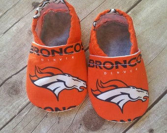 Denver Broncos Cloth Baby Booties