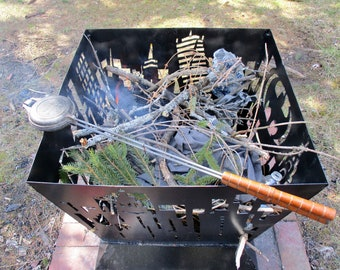 Vintage Sandwich Grill Roma Industries Aluma Cooker Camping Campfire Cooking