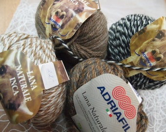 Adriafil Lana Naturale Inca  - luxurious alpaca blend  yarn - made in Italy - SALE - only 4.99 USD