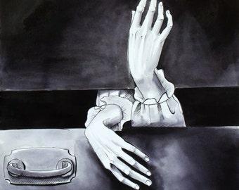 Creepy Hands Poster Print (Vampire)