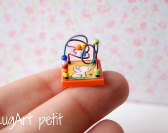 Miniature Toy Bead Maze for your dollhouse