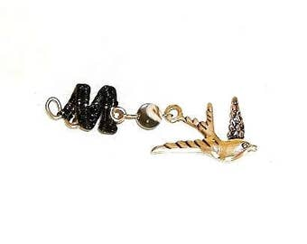 Dreadlock Jewelry - Antique Silver Free-Flying Dove Loc Jewel