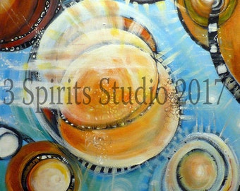 """Original Abstract Painting- """"Zia Gears"""""""