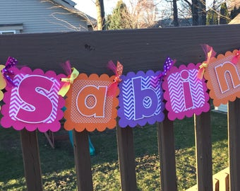 Dora the Explorer Banner, Dora Name Banner, Dora the Explorer Name Banner, Name Banner, Dora Birthday Name Banner, Dora Birthday Decorations