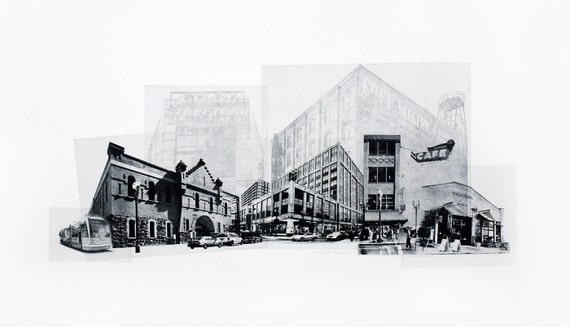 Portland Fine Art - Original Art - Photographic Etching - Art Print - Photography - The Pearl District - Portland, Oregon - Photogravure