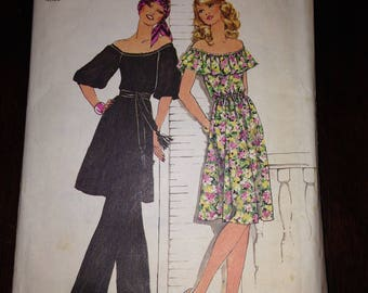Simplicity Sewing Pattern 7483 Misses Dress or Tunic and Pants Size 12
