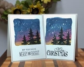 Christmas Greeting Card, Merry Christmas Card, Merry & Bright Card, Christmas Card Pack, Greeting Card Pack