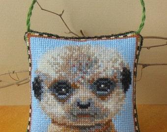Baby Meerkat Hanging Decoration Cross Stitch Kit