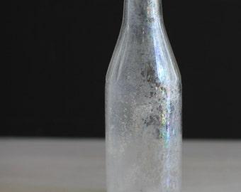 Vintage glass soda or beer bottle