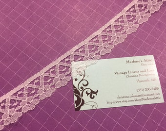 White lace, 1 yard of 1 inch White Chantilly lace trim with for bridal, baby, lingerie, accessories by MarlenesAttic - Item 1PP
