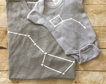 Daddy and Son outfit, Fathers day gift, Big and Little Dipper, Father son matching shirts, matching shirts, new father gift, Father's Day