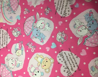 Half Meter Sanrio Japan Wish Me Mell Pink Kawaii Fabric