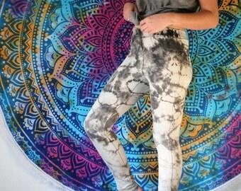 Acid Wash Jeggings - Tie Dye Pants - Acid Dye Pants - High Waisted Jeans - Acid Wash Jeans