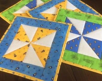 Pinwheel Potholders/Trivets