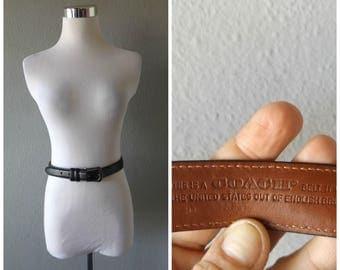 Black Coach Belt | Vintage 90s Ladies Designer Leather Belt Size 30 Inches 75 cm Preppy Minimalist Dress Tunics 1990s Basic Womens Belts