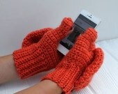 Black Friday Sale Wool Blend Convertible Mittens, Glittens, Gloves with Flap, Made to Order