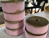 Crepe Paper Roll Party Decor Vintage Stock Easter Wedding Christmas Pink Pale Pink Gold Gilt Marie Antoinette (Small Roll)