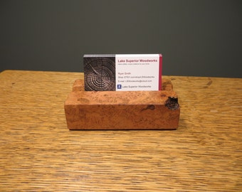 Business Card Holder, Crafted out of Cherry Burl