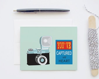 Diana F Retro Vintage Toy Plastic Camera Love Blank Greeting Card