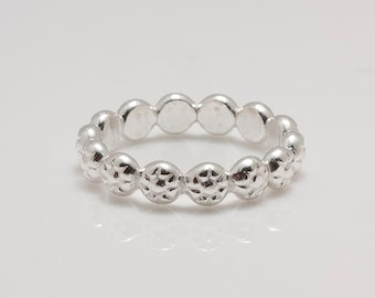 Sterling Silver Berry Band Ring