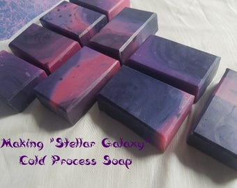 Stellar Galaxy-Cold Process Soap with a tart & fruity scent-4.5+ ounces