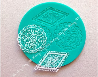 Lace Silicone Mat for cookie decorating