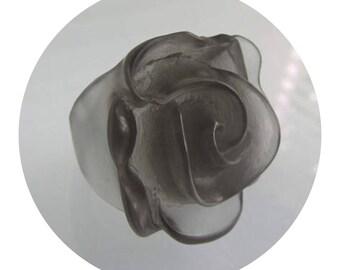 Parlour Resin Camellia Ring Smokey Grey