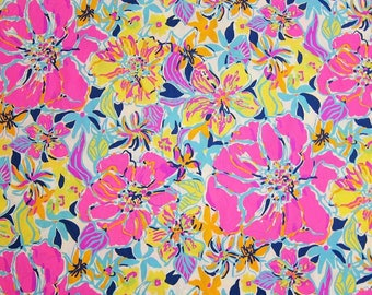 Cotton Poplin Besame Mucho fabric ~ one yard  or 1/2 yard ~ Lilly Pulitzer~