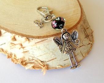 Angel keychain. Guardian Angel keychain. Protecting angel keychain. Keychain angel. Bridesmaid gift. Wedding gift. Linnepin010