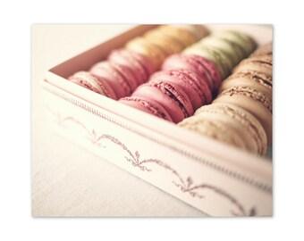 SALE Macarons, blush pink art, Laduree, blush pink wall art, blush wall art, canvas art, girly art, french macaroons, macaron, macaroon,