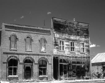 Western Decor Ghost Town Hotel IOOF Historic Bodie California Travel, Fine Art Photography matted & signed 5x7 Original Photograph