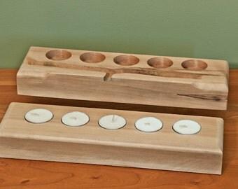 Cedar Tea Light Candle Holders