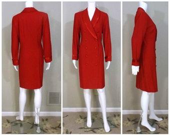 JOHN ROBERTS Red Tailored Dress Size 10 Petite