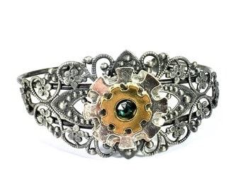 Steampunk Gear Cuff Bracelet