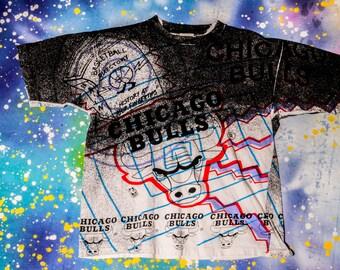 Chicago BULLS Basketball T-Shirt Size L