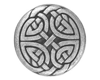 12 Eternal Knot 5/8 inch (15 mm ) Metal Buttons Silver Color