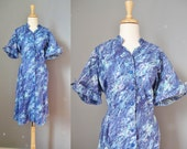 Blue Cotton House Dress /...
