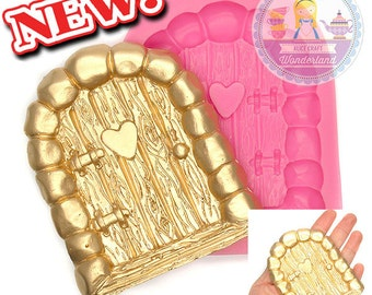 Door with Heart Silicone Mould Mold 500L Fondant Cake Gum Paste Scrapbooking Polymer Clay Sugar Craft Food Safe BEST QUALITY