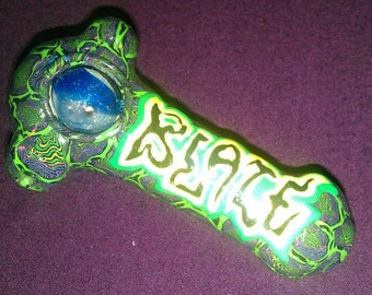 Blaze Flame Logo wrapped GLASS tobacco Pipe FREE SHIPPING blaze boondox formerly of psychopathic Christmas Gift MnE Juggalo fan toy glows