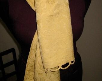 Shawl or Table Runner , silk kimono fabric