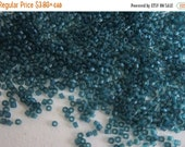 Boxing Week Sale DB-788, Miyuki Delica Beads, Size 11/0, Trans Dyed Matte Teal Blue - 5 grams or, choose a Larger Pkg from the 'Select an Op