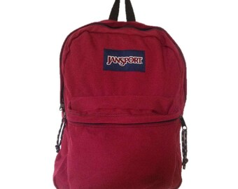 Classic Red Jansport Backpack - Made in USA
