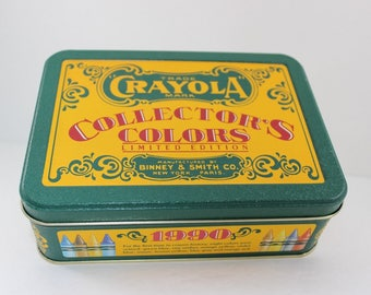 Vintage 1991 Crayola Crayon Collector's Colors Limited Edition Tin only Binney & Smith