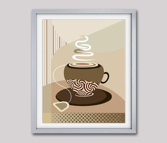 Tea Wall Art Print, Tea Poster, Tea Wall Decor  Kitchen Decor, Tea Wall Art, Tea Decor, Tea Bag Art, Tea Lovers Decor, Tea Lovers Gifts