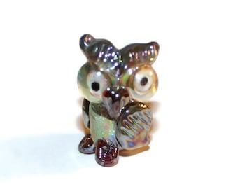 Lampwork Bead - Owl - (041)