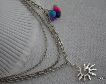 Sun and colorful beads necklace