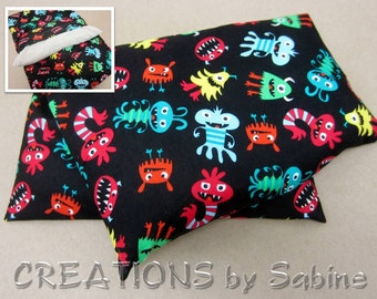 Heating Pack, Corn Pillow Pack with washable cover heating therapy pad boy birthday scary monsters monster Therapy Gift READY TO SHIP (474)