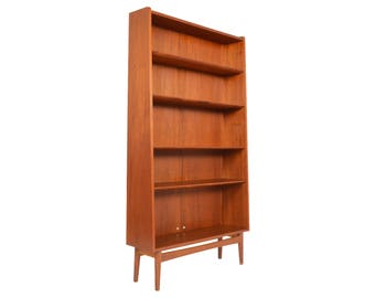 Danish Mid Century Modern Bookcase in Teak by Nexø