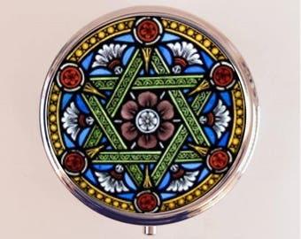 Star of David Pill Box Case Pillbox Holder Stash Trinket Box Jewish Symbol Hebrew Judaism